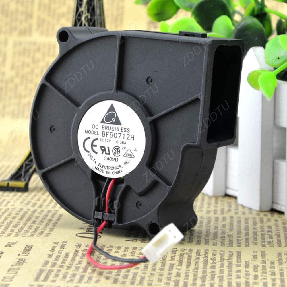 ZDDTU Compatible for Delta BFB0712H 7530 DC 12V 0.36A projector blower centrifugal Cooling Fan