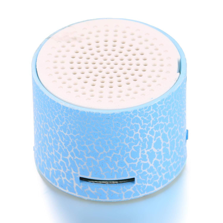 Porrity Altoparlanti Portatili Mini Altoparlanti Portatili LED con Porta TF Casse acustiche Portatili