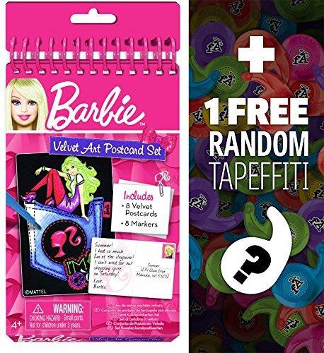 - Barbie Velvet Art Postcard Set + 1 Free Mini-Tapeffiti Bundle [223081]