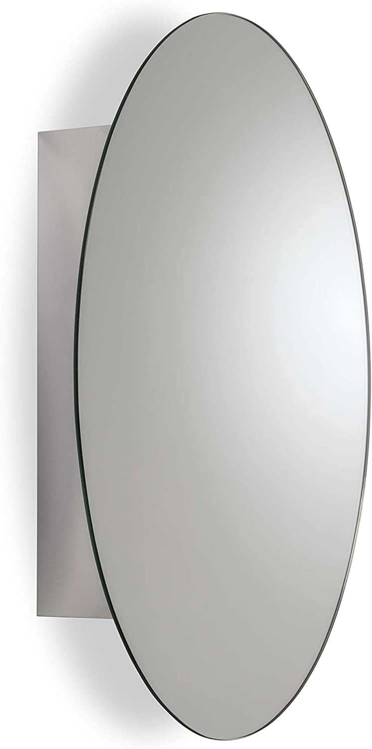 Croydex Tay Stainless Steel Oval Cabinet Steel