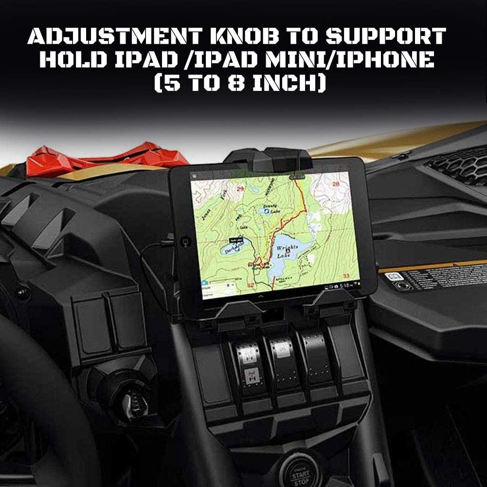 A/&UTV PRO Phone Ipad GPS Holder Compatible with 2017-2020 Can Am Maverick X3 Storage Box X3 Electronic Device Tablet Holder