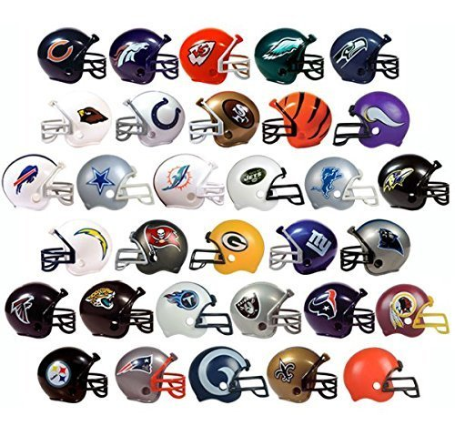 (New 2017 NFL Helmet Set. All 32 Teams. Mini Football 2