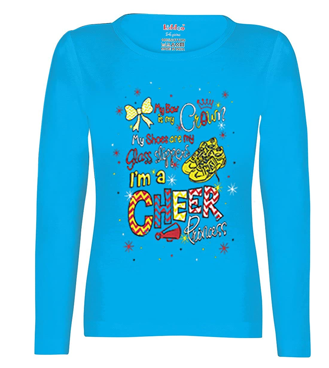 19d1d5119aa Kiddeo Girl s Cotton Full Sleeve T-Shirts - Pack of 5  Amazon.in  Clothing    Accessories