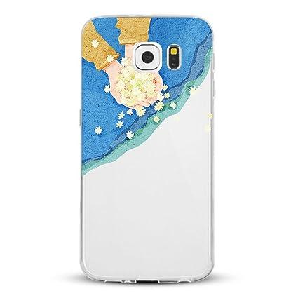 Amazon.com: Galaxy S7/S7 Edge, Funda Matop niña Floral ...