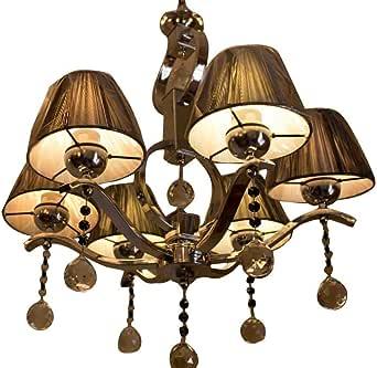 modern crystal chandelier 6 lamps
