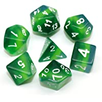 HD DND Dice Polyhedral Dice Set RPG Dice for Dungeons and Dragons(D&D) Pathfinder MTG Role Playing Game 4 Layers Green Translucent Dice