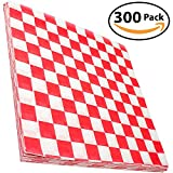 red and white butcher paper - Avant Grub Deli Paper 300 Sheets. Turn Your Backyard Cookout Party into a Classic Drive-In with Red & White Checkered Food Wrapping Papers. Grease-Resistant 12x12 Sandwich Wrap Prevents Food Stains!