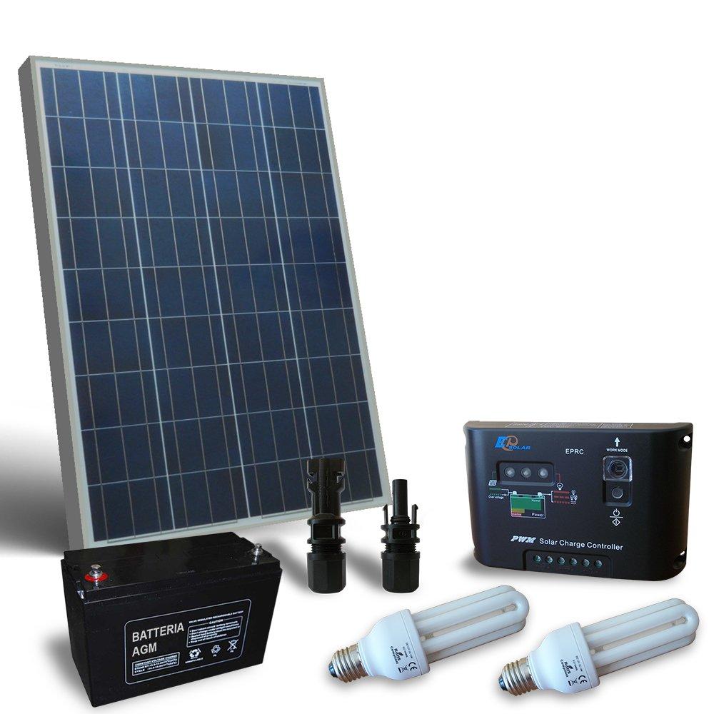 Kit solar Beleuchtung Fluo puntoenergia 50W 12V für Innen Photovoltaik