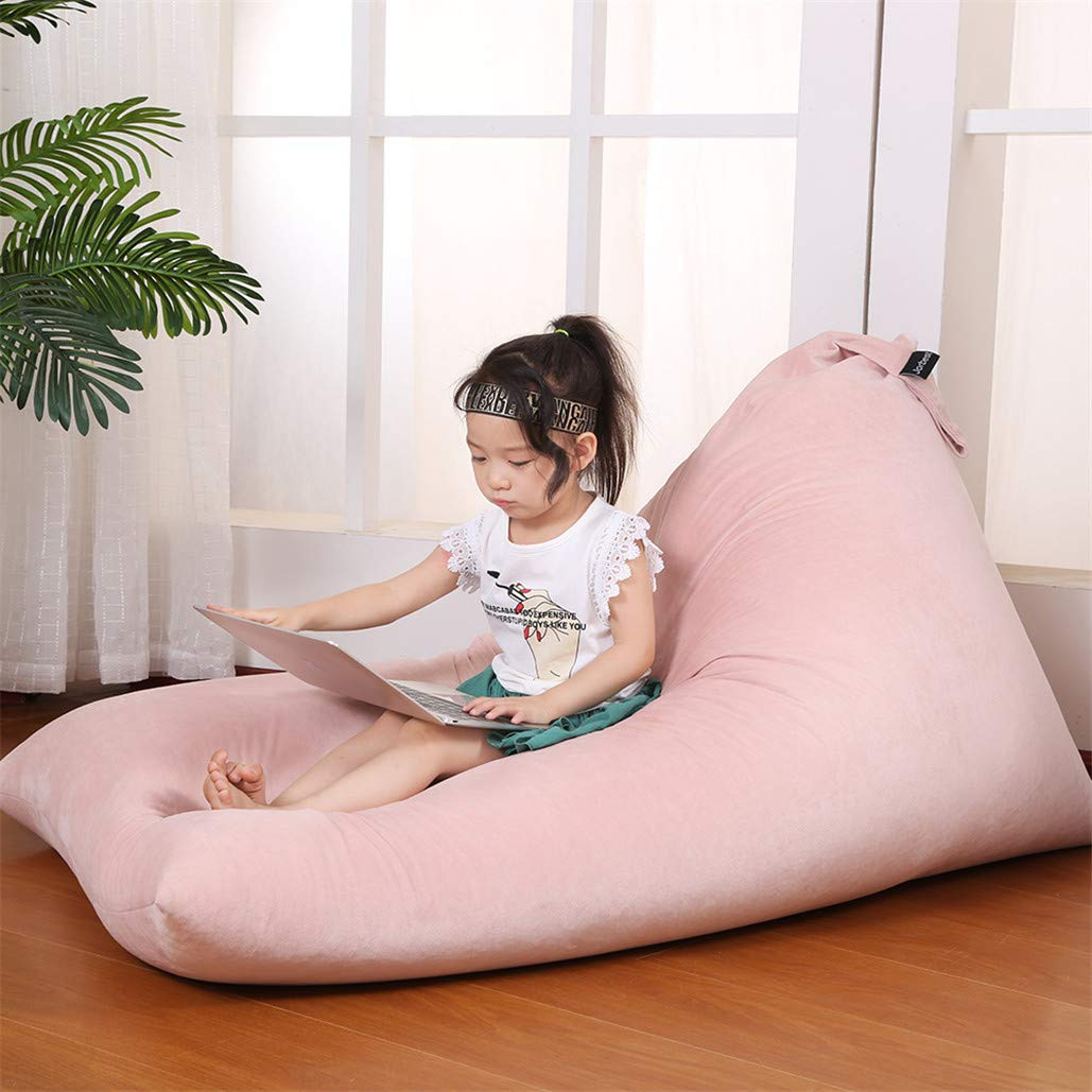Stuffed Animal Bean Bag Chair for Kids and Adults. Luxury Velvet Stuffed Seat - Cover ONLY(Sweet Pink 200L/52 Gal) by Jorbest (Image #2)
