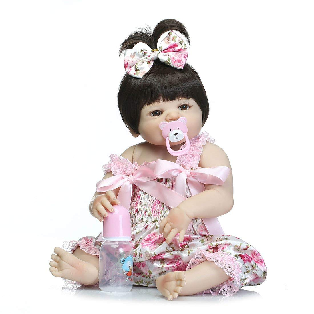Formulaone Simulación Bebé Lindo Reborn Doll Girl High Grade Silicona Suave Realista Big Eye recién Nacido Doll Parenting Niños Juguete