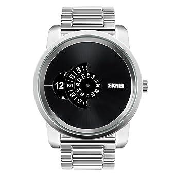 c9362736f6 Amazon   Rockyu ブランド 時計 メンズ 男女兼用 オシャレ 防水 サファイアガラス 海外ブランド メンズ腕時計   メンズ腕時計    腕時計 通販