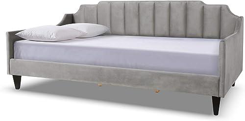 Jennifer Taylor Home Edgar Channel Sofa Bed, Opal Grey