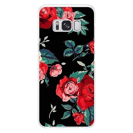 Amazon.com: Samsung Galaxy S9 Plus Case Flower TPU Case for ...