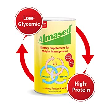 Almased Meal Replacement Shake -Plant Base Protein -Weight Loss Formula  -Low-Glycemic High