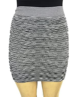 GUESS BY MARCANO Black&White Multi Mini Skirt