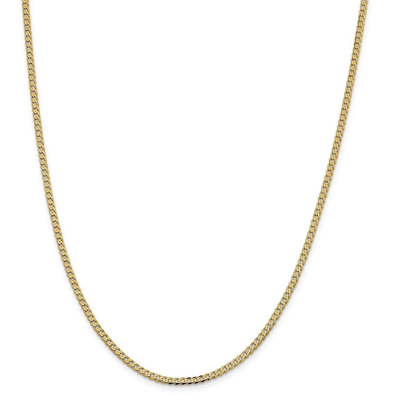 Bracelet or Necklace Lex /& Lu 14k Yellow Gold 2.3mm Beveled Curb Chain Anklet