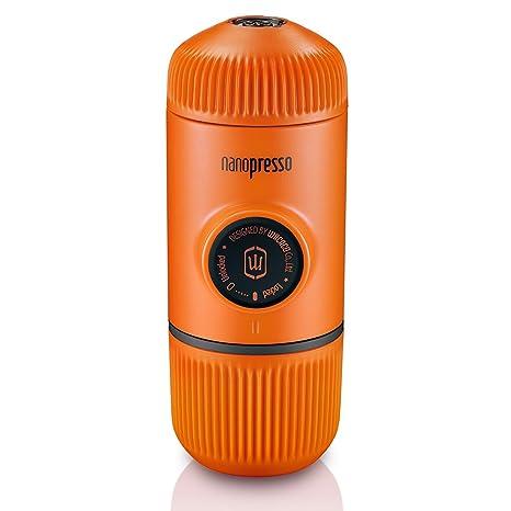 Wacaco Nanopresso Portable Espresso Maker, Upgrade Version of Minipresso, 18 Bar Pressure, Orange Patrol Edition, Extra Small Travel Coffee Maker, ...