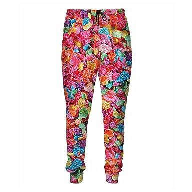 a5e4afc48613b Amazon.com: Casual Pants 3D Printed Fruity Pebbles Sweatpants ...