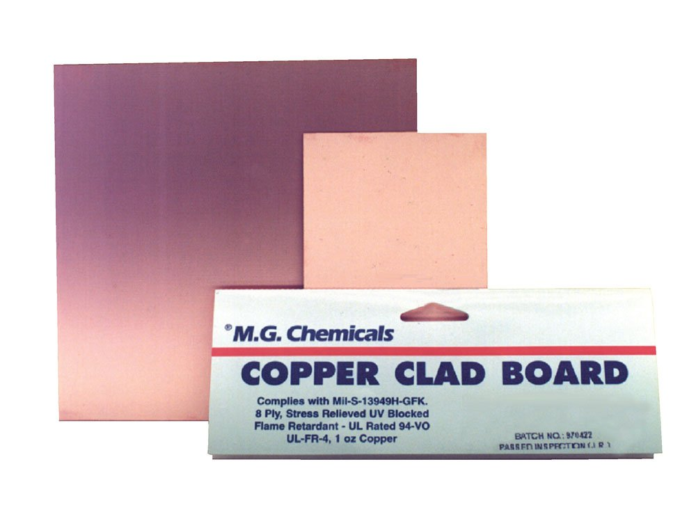 MG Chemicals Copper Clad Board, Single Sided, 36'' x 24'', 1 oz Copper, 1/16'' Thick, FR4