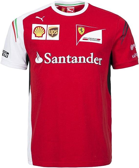 Puma Sf Scuderia Ferrari Team Tee Herren Shirt 761459 01 Amazon De Bekleidung
