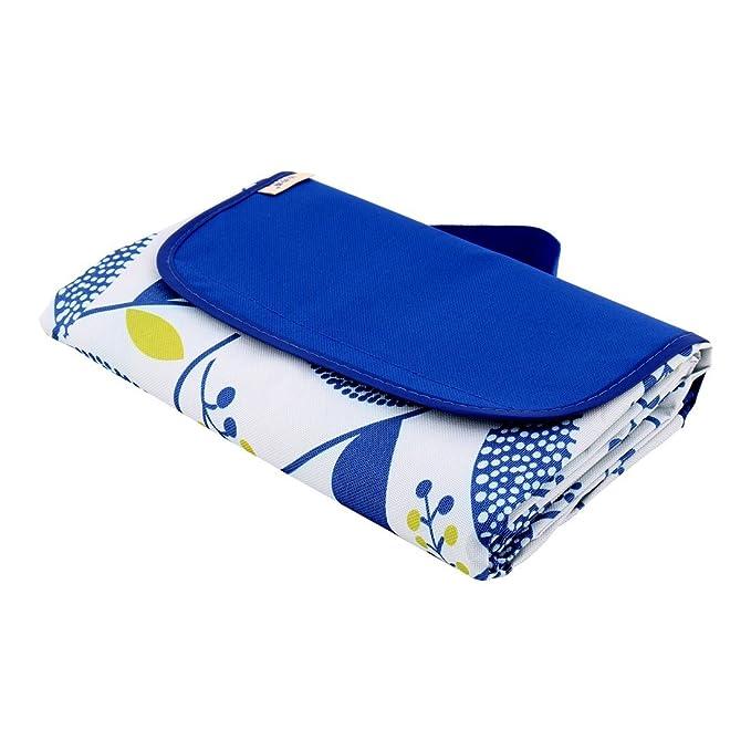 Amazon.com: eDealMax acampar al aire Libre de Nylon resistente al agua Sale del Modelo de Picnic estera del cojín de 145 x 180 cm Azul: Home & Kitchen