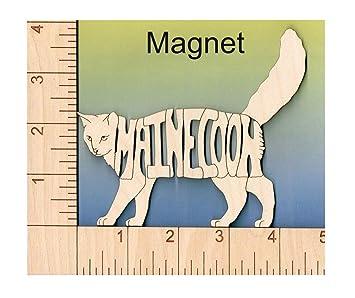 Wood Magnets Imanes de madera para enamorados de gatos, corte láser único y grabado con nombre de raza.: Amazon.es: Hogar