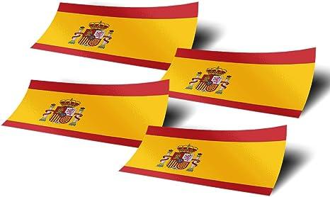 Pegatinas de bandera de España, 4 unidades, 10,16 cm de ancho, para ventana, ordenador portátil: Amazon.es: Juguetes y juegos
