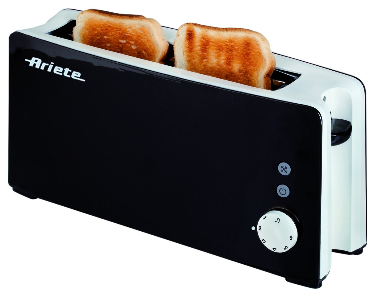 Ariete 127 - Tostadora con ranura larga, 1000 W, color rojo: Amazon.es: Hogar