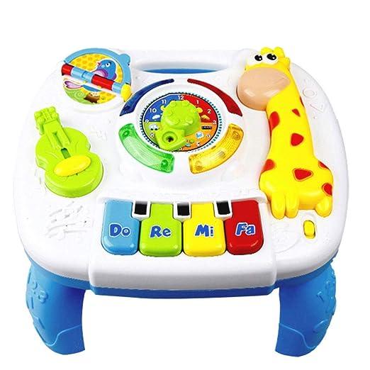 Jiayuane Mesa de Aprendizaje Musical para bebés Toddles, de 6 a 12 ...