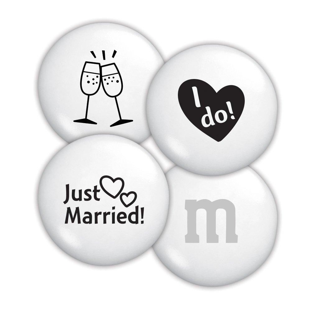 Amazon.com : Just Married Custom M&M\'S 2lb Bulk Candy Bag : Grocery ...