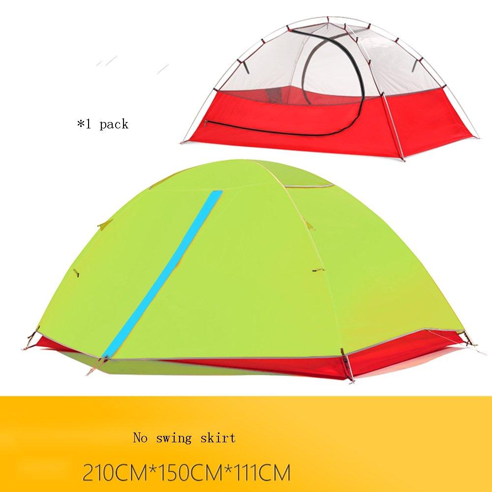 QFFL zhangpeng テント暴風防屋外アルミテントシングル2人キャンプテント3色オプション トンネルテント (色 : 青, サイズ さいず : 1#) 1# 青 B07CFWMXD6