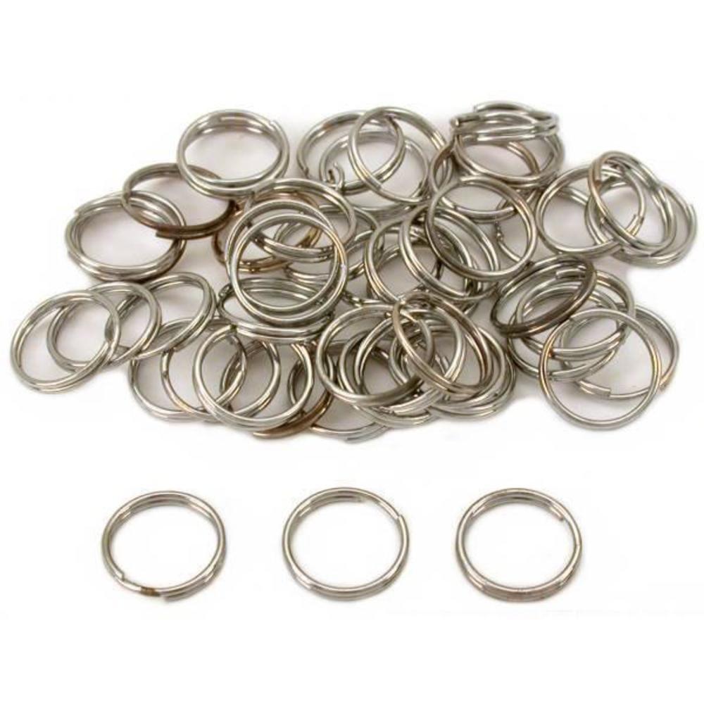 Split Rings Nickel Plated 12mm 50Pcs