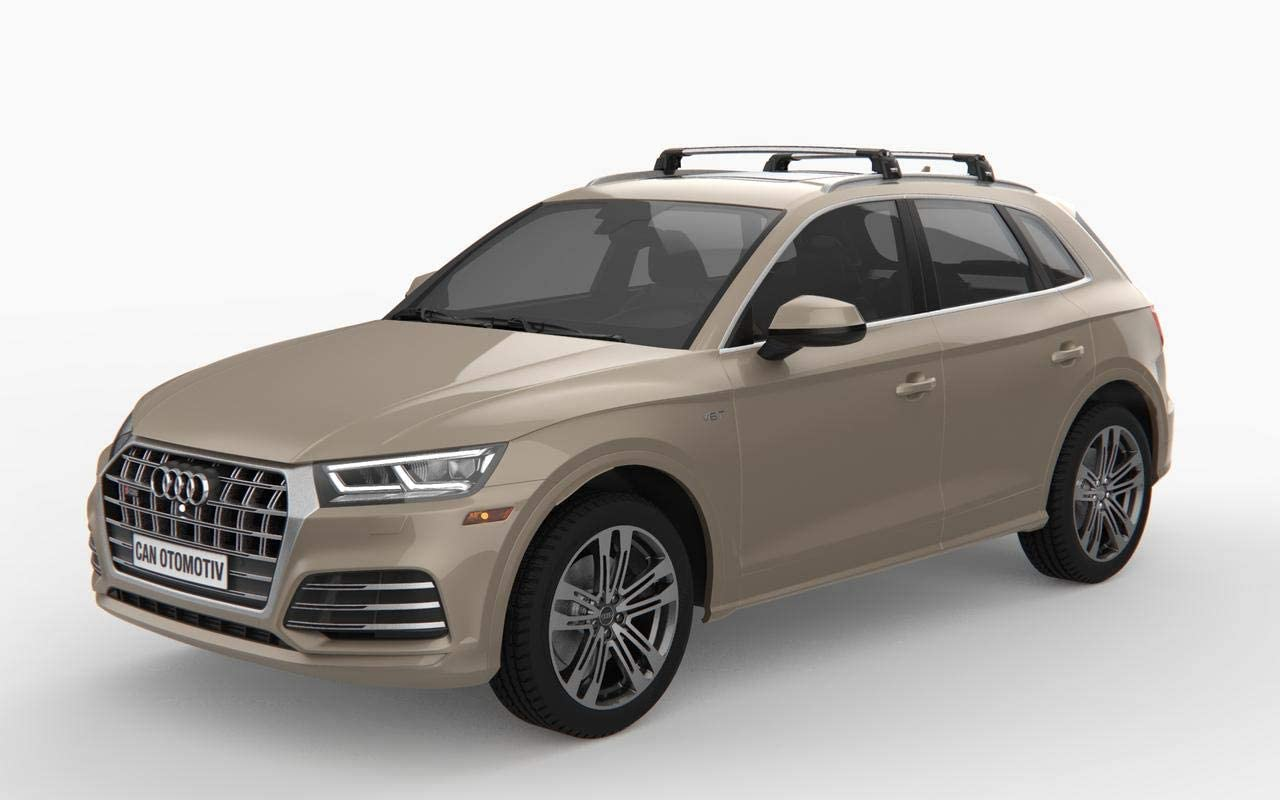 GREY ROOF RACK CROSS BARS FLUSH RAILS LOCKABLE FOR RENAULT KADJAR SUV 2015-ONWARDS