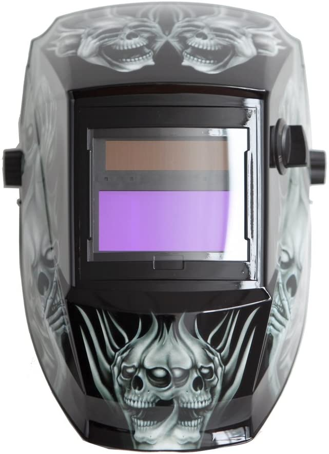 Antra AH6-260-6218 Solar Power Auto Darkening Welding Helmet with AntFi X60-2 Wide Shade Range 4//5-9//9-13 with Grinding Feature Extra lens covers Good for Arc Tig Mig Plasma CSA//ANSI