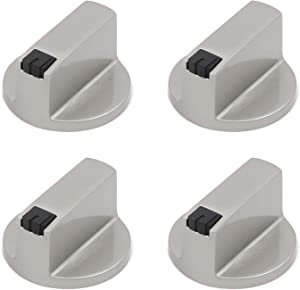 Mironey 6mm Shaft Core Gas Stove Knobs Metal Cooker Oven Switch Burner Control Switch Knob Pack of 4