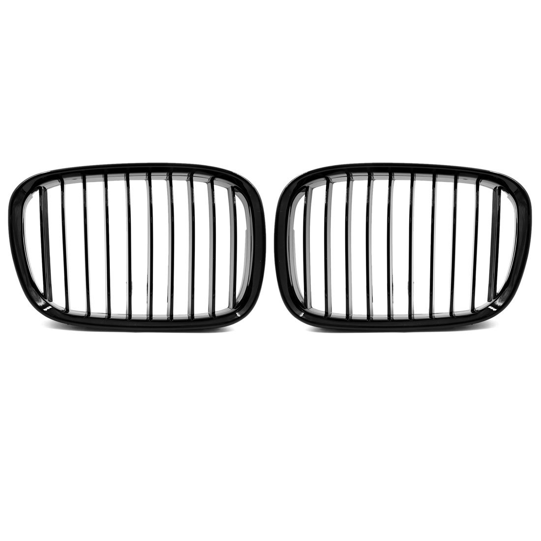 uxcell 2pcs Glossy Black Front Kidney Grille Grill for 1997-2003 BMW E39 5 Series 525i 528i 530i 540i M5 4-Door