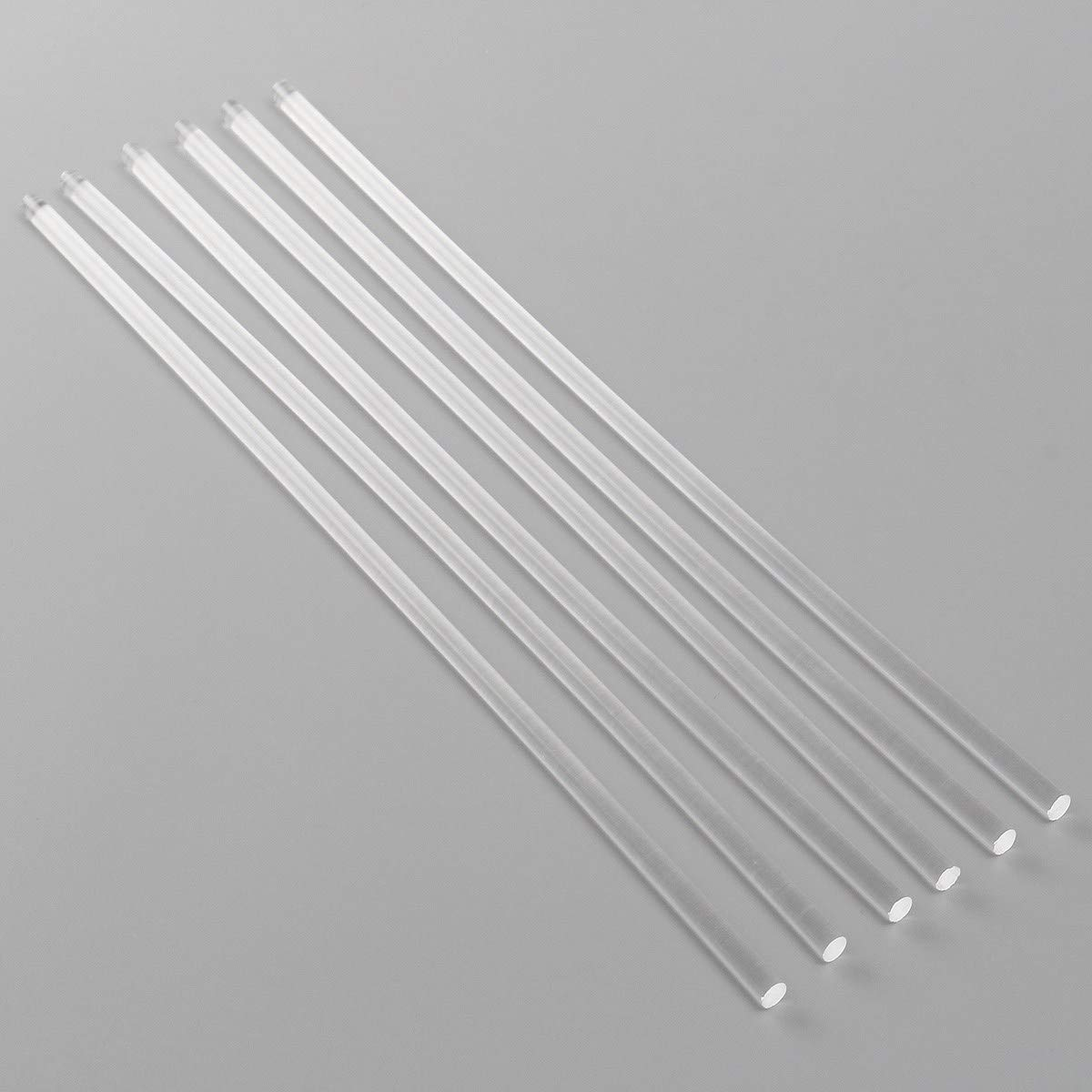 9mm Diameter 300mm Length 2mm-25mm Diameter Transparent Acrylic Round bar PMMA Rod