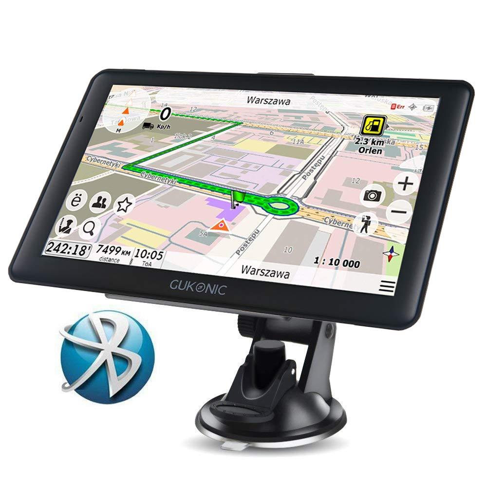 GUKONIC 7' Navegador GPS de camió n Navigation con Speedcam Radar Asistencia actualizaciones de Europea mapas de por Vida