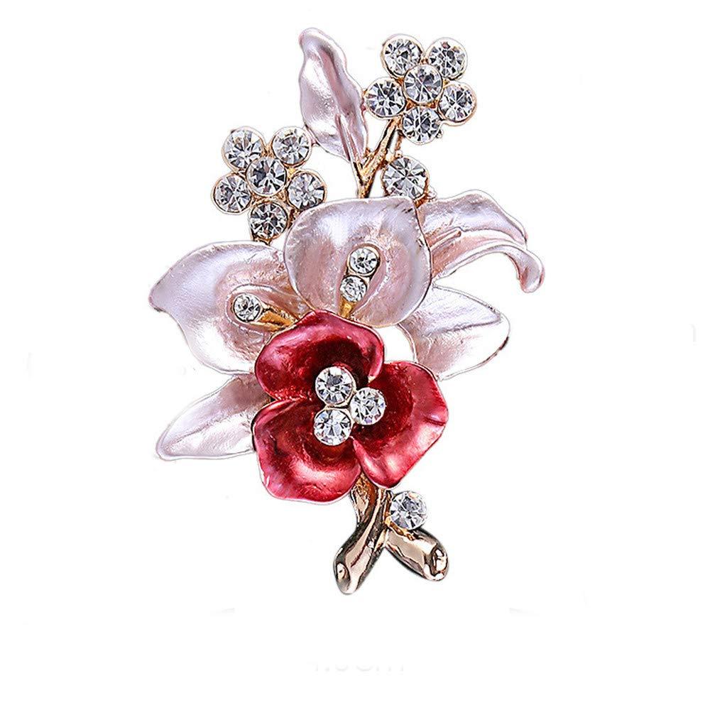 "2/"" LARGE SILVER FAUX PEARL FLOWER BROOCH DIAMANTE CRYSTAL WEDDING BRIDAL BROACH"
