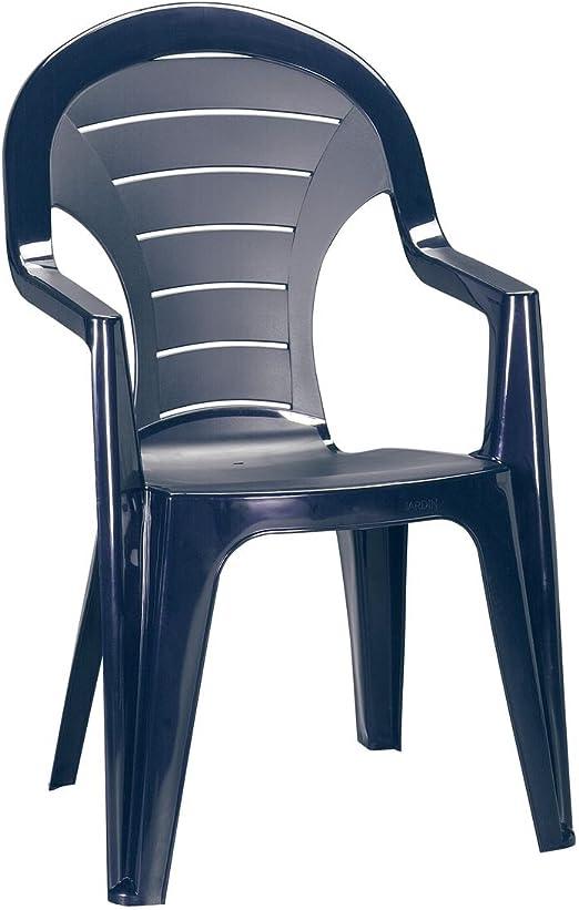 greemotion 127560.0 Silla de Plástico para Jardín, Azul, 57x56x92 cm: Amazon.es: Jardín