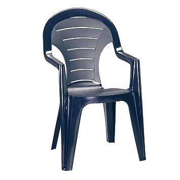 greemotion 127560.0 Silla de Plástico para Jardín, Azul, 57x56x92 cm ...