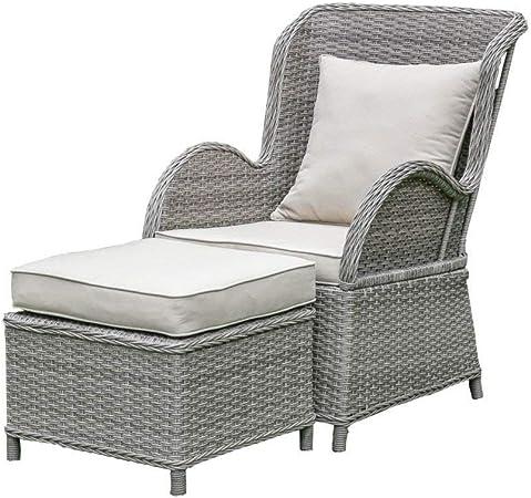 Amazon.com: Living Express silla y otomana de mimbre con ...