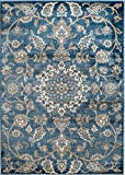 """MADISON COLLECTION 2B-D3MI-RJ5J 405 Vintage Distressed Oriental Persian Blue Area Rug Clearance Soft and Durable Pile. Size Option, 7′.4""""x 10′.6"""" Review"""