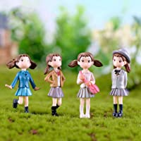 P S Retail Cute Cartoon Figurines Fairy Garden Miniatures - 4pcs/Set (5CM)