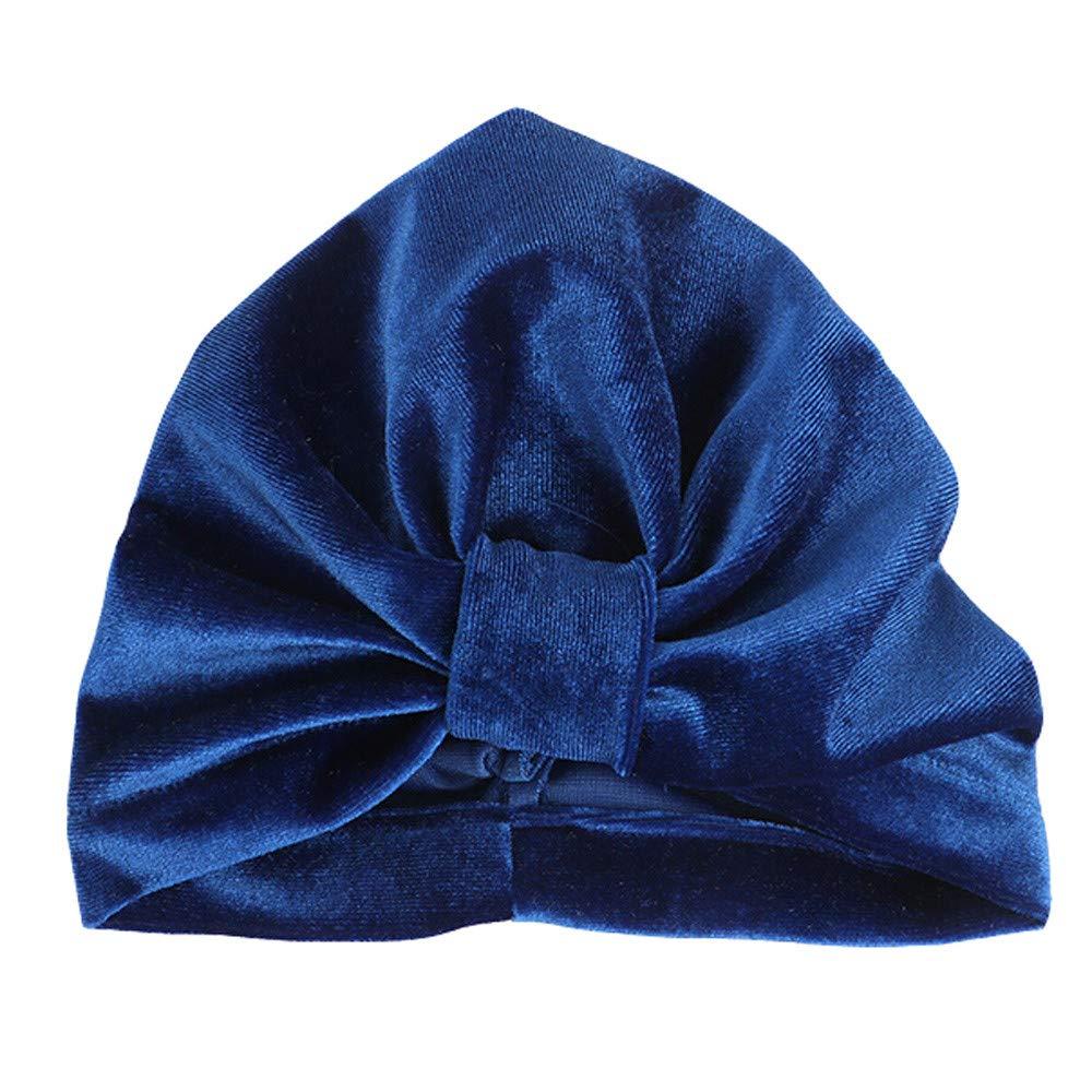 Vinjeely Cute Bowknot Striped Warm Winter Woolen Headgear Hat 0-6 Month Baby Gilrs Beanie Cap