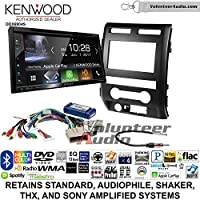 Volunteer Audio Kenwood Excelon DDX6904S Double Din Radio Install Kit with Satellite Bluetooth & HD Radio Fits 2009-2010 Ford F-150 (Black)