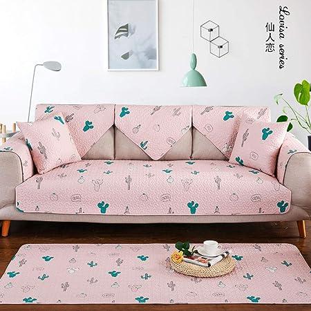 YTSM Fundas Sofas 3 Plazas,Funda de sofá de Tela de algodón cojín Antideslizante Universal para sofá de salón-Fairy Love_90 * 210cm(1PCS): Amazon.es: Hogar