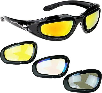 1 Chopper Strap Wind Resistant Sunglasses Motorcycle Riding Glasses Sport Lens
