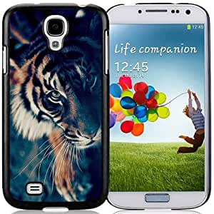 Beautiful Designed Antiskid Cover Case For Samsung Galaxy S4 I9500 i337 M919 i545 r970 l720 Phone Case With Bengal Tiger Face Closeup_Black Phone Case
