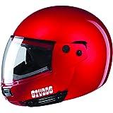 Studds Ninja Pastel Plain SUS_NPPFFH_REDXL Full Face Helmet (Cherry Red, XL)